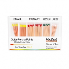 MacDent Dental Gutta Percha Points Refills Endodontic Root Canal for WAVEONE Gold 60pcs/pack